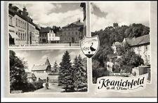 Kranichfeld Thüringen DDR Mehrbildkarte 1964 Meininger Hof Oberschloß ungelaufen