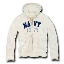 US Navy USN Zipper Applique Hooded Thermal Sweatshirt Hoodie Hoody ~ L XL 2XL