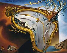 Salvador Dali Soft reloj en el momento de explosión Vintage impresión