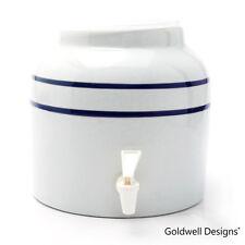 Goldwell Designs Porcelain Water Dispenser Crock - Classic Double Line Stripes