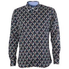 Maddox Street Shirt Mens Bird Navy Blue Woven Shirt Medium M36MW07 Gabicci