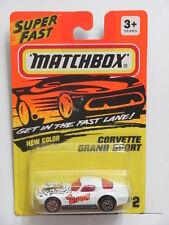 MATCHBOX 1993 CORVETTE GRAND SPORT #2 WHITE THE WIDOW