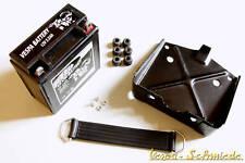 VESPA SET Batterie 12V / 5,5Ah - PK XL XL2 PX Lusso T5 Halter Gummi Halteband
