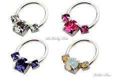 925 Sterling Silber Septum Ring Nasenring Nasenpiercing Stecker Septum Clicker