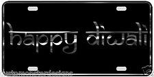 Happy Diwali License Plate Festival of Lights Chrome & Regular Vinyl Choices