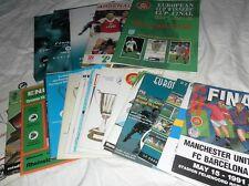 EUROPEAN CUP WINNERS CUP FINAL PROGRAMMES 1975 - 99 CHOOSE FROM LIST