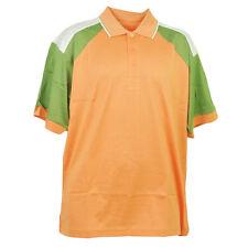 Red Jacket Collar Polo Orange Green Button Dress Shirt Mens Adult Short Sleeve