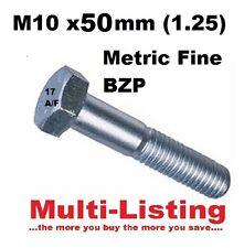 BZP M10 x 50 mm X 1.25 Pece Hex set viti (metrica Belle) - INSERZIONE MULTIPLA