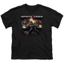 Infinite Crisis Batmen Big Boys Youth Shirt Black