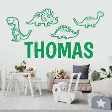 Cute Cartoon Dinosaurs - Personalised Decal Wall Sticker