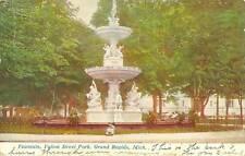 Grand Rapids,MI. Fountain,Fulton St.Park 1908
