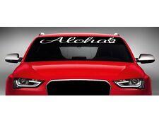 "40"" Aloha #1 Cute Hibiscus Hawaiian Car Decal Sticker Windshield Banner COLORS!"