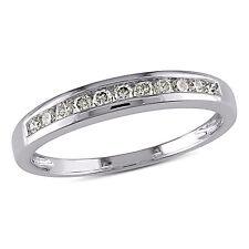 10k White Gold 1/4 ct TDW Diamond Channel Wedding Band J-K I2-I3