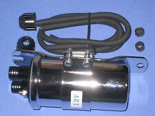 Ignition coil dual lead 12v chrome Triumph BSA chopper 12 volt motorcycle