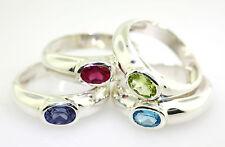 splitter ring solitär mult color natural gemstone oval 10x6mm feine qualität neu!