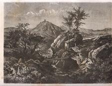 1877 Sangro L'Aquila Abruzzo  xilografia