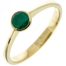 Ring Damenring mit Smaragd grün 333 Gold Gelbgold Smaragdring schlicht Goldring