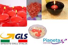 6 Candele love galleggianti rosse impermeabili san valentino regalo amore coppia