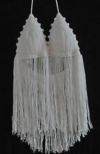 Crochet Coverup Top Boho Padded Grecian Hippy Beach Wedding Cute Bohemian Tassel