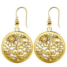 91bacdb6fb5b Nuevo Mujer 1 0.2cm 10k Or 14k Oro Amarillo Árbol de la Vida Colgante  Pendientes