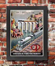Tx112 Vintage Portugal Lisboa portuguesa de ferrocarriles Enmarcado viajar Cartel A3/a4