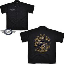 VINTAGE Kustom HOT ROD ROCKABILLY Camisa De Trabajo Kustom Camisa 1288