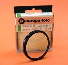 Nahlinse 49 mm +3 Close up 49 mm +3 Filter 00099
