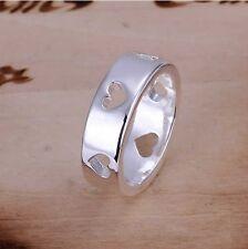 925 Sterling Silver Plated Multi Amore Cuore Taglio FINGER / Toe Ring / P, P Q, L, R