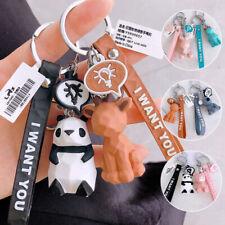 NEW 1PC Resin Keychain Key Ring Letters Dinosaur Key Chain Bag Car Keyring