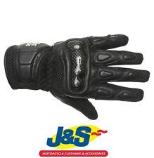 J&S Mesh Motorcycle Gloves Summer Sports Motorbike Touring Black Vented ATV J&S