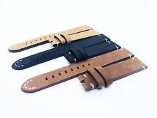 Marrón/Negro De Cuero Correa Vintage/Ajuste De Banda Reloj Rolex 18 20 22mm Broche De Hebilla/