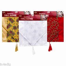Noël Chemin de Table Doré, Silver ou Rouge Taille 35cm x138cm