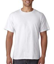 Men's White Fruit Loom HD Heavy Cotton T-Shirt Lot of 1, 3, 6, 12 Sizes S M L XL