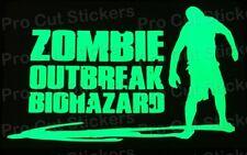 GRANDE Zombie Morti EPIDEMIA Brillano Al Buio Luminescente ADESIVI DECAL D4