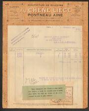 """PARIS (XIV°) USINE à SOUSTONS & LEON (40) de BOUCHON LIEGE """"PONTNEAU Ainé"""" 1926"""