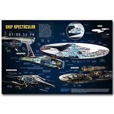 58297 U.S.S. Enterprise Blue Star Trek Beyond Wall Print Poster CA