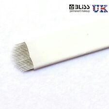 Microblading Agujas-U-flexible, spmu, Herramienta De Cejas Manual de maquillaje permanente
