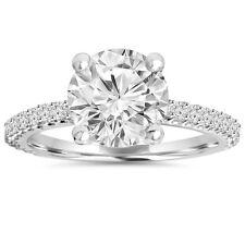 14k White Gold 2.30ct Clarity Enhanced Diamond Engagement Wedding Ring