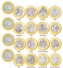 BRASILE BRAZIL 1 REAL OLIMPIADI A RIO BIMETALLICA BIMETAL UNC