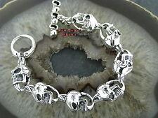 Totenkopf Silberarmband Feingehalt Silber 925 Totenkopfarmband skull bracelet