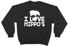 I Love Hippo's Mens Womens Jumper Sweatshirt
