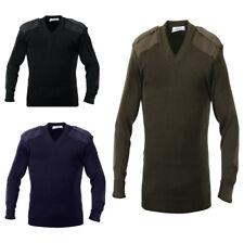 V Neck Sweater Military Long Sleeve 100% Acrylic Rothco