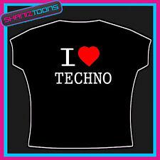 I LOVE HEART TECHNO MUSIC TSHIRT