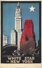 Vintage Blanco Star Line Nueva York Cruise CubiertadeAsiento         yantideslizante