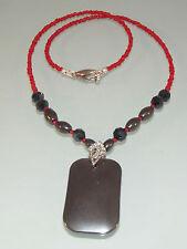 ♥ Dream-Pearls süße Halskette Korallen Perlen und Hämatit schwarz rot ♥Hk123