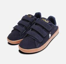 Classic Navy Blue Suede Ralph Lauren Quincey Shoes