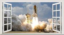 Nasa Space Shuttle 3D Magic Window Wall Art Self Adhesive Sticker Wall Paper V2*