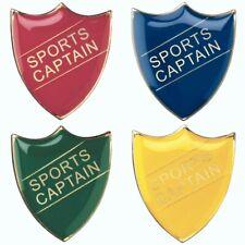 Enamel Sports Captain Shield Badges