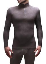 Heat Holders - Uomo Micropile Termica Invernale Calda Nera Maniche Lunghe Maglia