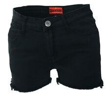 Darkside Clothing Black Denim Cut Off Hot Pants Shorts Short Jeans Skater Rock